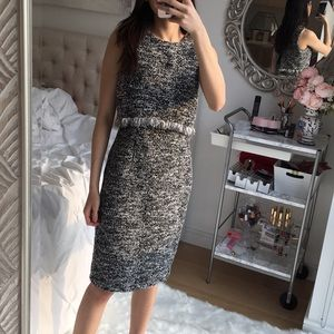 Tweed dress with cape top
